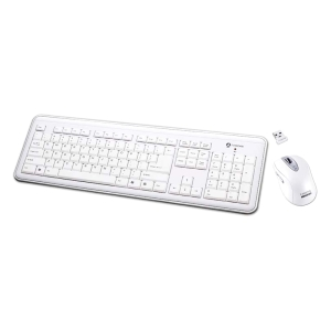 I-Rocks RF-6577L Keyboard and Mouse - USB Wireless RF Keyboard - USB Wireless RF Mouse - Laser - 1600 dpi