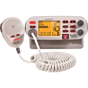 Cobra Marine Radio - For MarineVHF - 10 Weather / 16/9/Tri Instant - 25 W - Fixed Mount