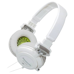 Panasonic RP-DJS400 DJ Street Headphone - Stereo - Green - Mini-phone - Wired - 32 Ohm - 10 Hz 27 kHz - Gold Plated - Over-the-head - Binaural - Ear-cup - 3.94 ft Cable