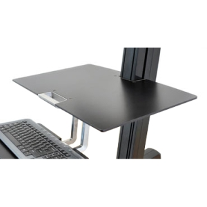 Ergotron Work Surface Accessory - 23.0&quot; Width x 15.0&quot; Depth x 0.3&quot; Height - Phenolic - Black