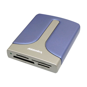 Addonics AEPDDESU 15-in-1 Flash eSATA/USB 2.0 Card Reader/Writer - 15-in-1 - microSD Card, Memory Stick Micro (M2), Secure Digital (SD) Card, Secure Digital High Capacity (SDHC), miniSD Card, MultiMediaCard (MMC), MMCplus, Reduced Size MultiMediaCard (RS-