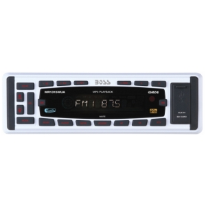 Boss MR1315WUA Marine Flash Audio Player - 240 W RMS - iPod/iPhone Compatible - Single DIN - MP3 - FM, AM - 30 x AM/FM Preset - Secure Digital (SD) Card - USB - Auxiliary Input