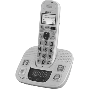 Clarity D722 Cordless Phone - DECT - White - 1 x Phone Line - Answering Machine - Caller ID - Speakerphone - Backlight
