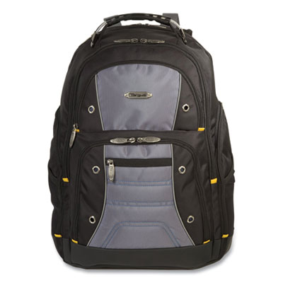 "Targus TSB239US Carrying Case (Backpack) for 17"" Notebook - Black, Gray - Water Resistant - Nylon"