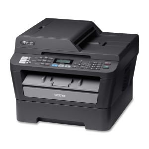 Brother MFC-7460DN Laser Multifunction Printer - Monochrome - Plain Paper Print - Desktop - Printer, Copier, Scanner, Fax - 27 ppm Mono Print - 2400 x 600 dpi Print - 27 cpm Mono Copy LCD - 600 dpi Optical Scan - Automatic Duplex Print - 250 sheets Input