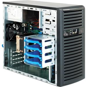 Supermicro SC731i-300B Chassis - Tower - 7 Bays - 300W - Black