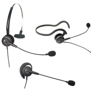 VXi Tria V DC Convertible Headset - Mono - Quick Disconnect - Wired - 300 Ohm - 20 Hz - 15 kHz - Gold Plated - Over-the-ear, Behind-the-neck, Over-the-head - Monaural - Semi-open - Noise Cancelling, Electret Microphone
