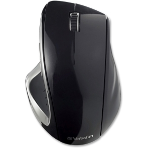 Verbatim Ergo Mouse - Optical - Wireless - Radio Frequency - Black - USB - Scroll Wheel