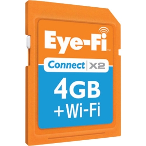Eye-Fi Connect X2 EYE-FI-4CN 4 GB Secure Digital High Capacity (SDHC) - 1 Card/Pack - Class 6