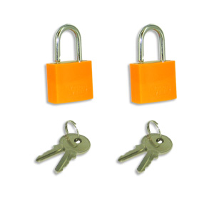Voltage Valet 2 Travel Luggage Locks with Keys - Orange (2KL-O)