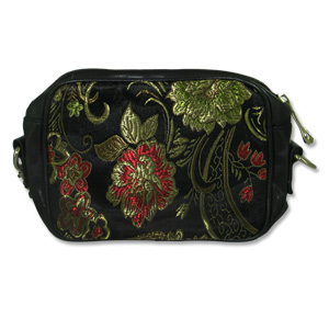 Mango-Tango Black Brocade Small Purse/Camera Bag - M0117