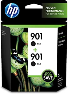 HP 901 Twin-pack Ink Cartridge - Black - Inkjet - 200 Page - 2 / Pack