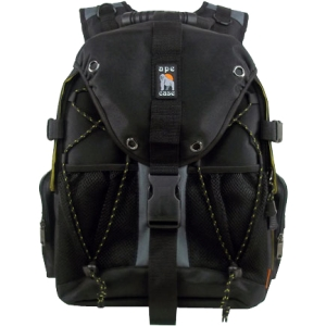 "Ape Case Carrying Case - Backpack - Shoulder Harness , Shoulder Strap - 14"" to 14.1"" Screen Support - Black, Hi-Vis Yellow"