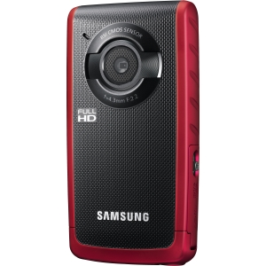 "Samsung HMX-W200 Digital Camcorder - 2.3"" LCD - CMOS - Red - Electronic (IS) - Full HD - HDMI"