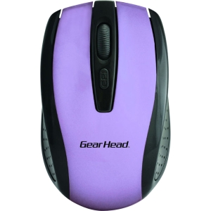Gear Head Mouse - Optical - Wireless - Radio Frequency - Purple, Black - 1000 dpi - Scroll Wheel