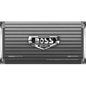 Boss ARMOR AR3000D Car Amplifier - 3000 W PMPO - 1 Channel - Class D - 105 dB SNR - 0% THD - 1.20 kW @ 4 Ohm