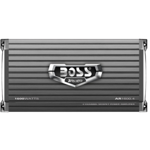 Boss ARMOR AR1600.4 Car Amplifier - 1600 W PMPO - 4 Channel - Class AB - Bridgeable - 105 dB SNR - 0% THD - MOSFET Power Supply - 160 W @ 4 Ohm