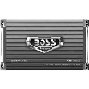 Boss ARMOR AR1200.2 Car Amplifier - 1200 W PMPO - 2 Channel - Class AB - Bridgeable - 105 dB SNR - 0% THD - MOSFET Power Supply - 230 W @ 4 Ohm