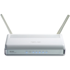 Asus SuperSpeedN RT-N12 Wireless Router - IEEE 802.11n - 2 x Antenna - ISM Band - 300 Mbps Wireless Speed - 4 x Network Port - 1 x Broadband Port Wall Mountable, Ceiling Mountable
