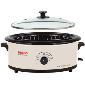 Nesco 4816-14G Electric Oven - Single - 0.20 ft³ - Ivory, White