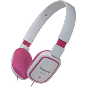 Panasonic RP-HX40 Headphone - Stereo - Pink, White - Mini-phone - Wired - 32 Ohm - 10 Hz 25 kHz - Nickel Plated - Over-the-head - Binaural - Semi-open - 3.94 ft Cable