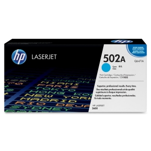 HP 502A Toner Cartridge - Cyan - Laser - 6000 Page - OEM