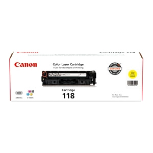 Canon 118 Toner Cartridge - Laser - Yellow