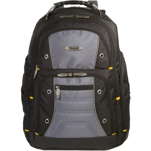 "Targus Drifter TSB238US Carrying Case (Backpack) for 16"" Notebook - Black, Gray - Water Resistant - Nylon"
