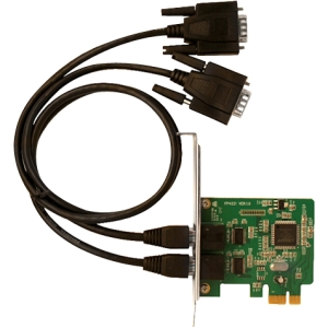 SIIG 2-port PCI Express Serial Adapter - 2 x 9-pin DB-9 Male RS-232 Serial PCI Express - 1 Pack
