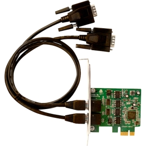 SIIG 2-port PCI Express Serial Adapter - 2 x 9-pin DB-9 Male RS-422/485 Serial PCI Express - 1 Pack