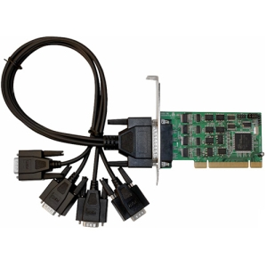SIIG 4-port MultiPort Serial Adapter - Universal PCI - 4 x DB-9 Male RS-232/422/485 Serial - Plug-in Card - Retail