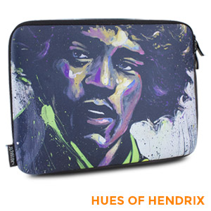 "David Garibaldi - Hues of Hendrix, Zippered Neoprene 10"" Netbook/Tablet Sleeve"