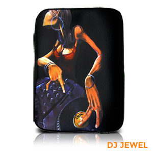 "David Garibaldi - DJ Jewel, Zippered Neoprene 10"" Netbook/Tablet Sleeve"