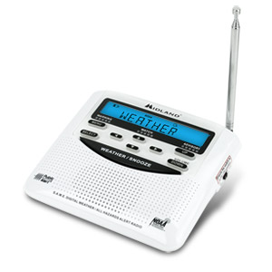 Midland WR-120 Weather & Alert Radio  with 7 Weather Channels and Hazard and Civil Emergency Alerts