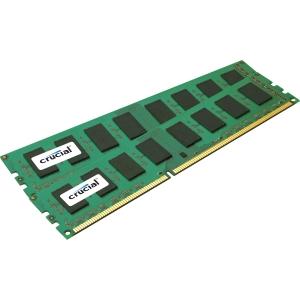 Crucial 4GB Kit (2GBx2), 240-Pin DIMM, DDR3 PC3-10600 Memory Module - 4 GB (2 x 2 GB) - DDR3 SDRAM - 1333 MHz DDR3-1333/PC3-10600 - Non-ECC - Unbuffered - 240-pin DIMM