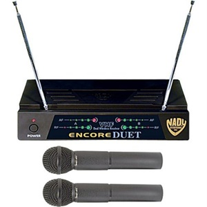 Nady Encore-Duet Wireless Microphone System - 171.91 MHz, 203.40 MHz System Frequency