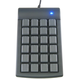 Genovation Keypad - Cable - Dark Gray - USB - 24 Key - Computer