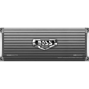 Boss ARMOR AR2500M Car Amplifier - 2500 W PMPO - 1 Channel - Class AB - 105 dB SNR - 0% THD - MOSFET Power Supply - 1.40 kW @ 4 Ohm