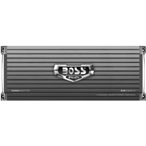 Boss ARMOR AR2400.4 Car Amplifier - 2400 W PMPO - 4 Channel - Class AB - Bridgeable - 105 dB SNR - 0% THD - MOSFET Power Supply - 240 W @ 4 Ohm