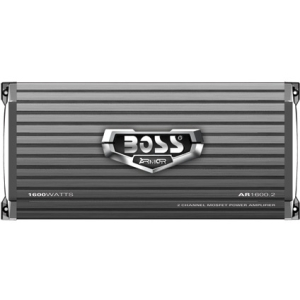 Boss ARMOR AR1600.2 Car Amplifier - 1600 W PMPO - 2 Channel - Class AB - Bridgeable - 0% THD - MOSFET Power Supply - 260 W @ 4 Ohm