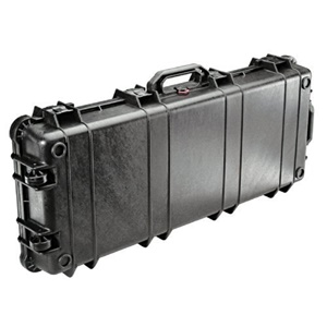 "Pelican 1700 Long Case with Foam - 1.47 ft³ - Internal Dimensions: 13.50"" Width x 5.25"" Depth x 35.75"" Length - External Dimensions: 16.0"" Width x 6.1"" Depth x 38.1"" Length - Polyurethane, Stainless Steel, Copolymer - Black"