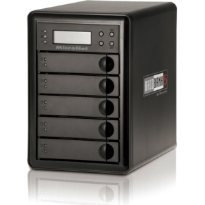 MicroNet RAIDBank5 RB5-15000 DAS Array - 5 x HDD Installed - 15 TB Installed HDD Capacity - RAID Supported - 5 x Total Bays - eSATA, USB 3.0, FireWire/i.LINK 400, FireWire/i.LINK 800 Tower
