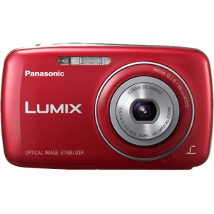 "Panasonic Lumix DMC-S3 14.1 Megapixel Compact Camera - Red - 2.7"" LCD - 4x Optical Zoom - Optical (IS) - 4320 x 3240 Image - 1280 x 720 Video - QuickTime M"