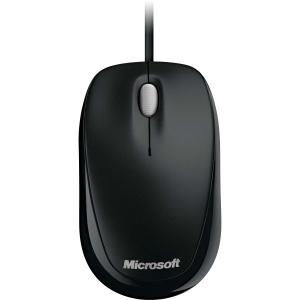 Microsoft 500 Mouse - Optical - Cable - Black - USB - 800 dpi - Scroll Wheel - 3 Button(s) - Symmetrical