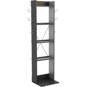 "Atlantic Game Central Tall - 49.4"" Height x 11.2"" Width - 2, 4, 80, 96 x Guitar, Controller, DVD, Blu-ray - 5 Compartment(s) - Wood, Metal - Black"