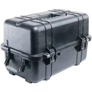"Pelican 1460 Shipping Case with Foam - 1.16 ft³ - Internal Dimensions: 9.92"" Width x 10.92"" Depth x 18.54"" Length - External Dimensions: 12.7"" Width x 12.8"" Depth x 20.9"" Length - Rubber, Copolymer - Black"