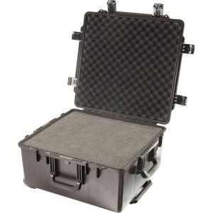 "Pelican Storm Case iM2875 Large Storage Box with Cubed Foam - Internal Dimensions: 21.10"" Width x 11.40"" Depth x 22.50"" Length - External Dimensions: 23.7"" Width x 13.1"" Depth x 24.9"" Length - HPX Resin - Black"