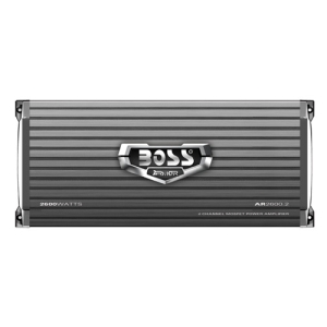 Boss ARMOR AR2600.2 Car Amplifier - 2600 W PMPO - 2 Channel - Class AB - Bridgeable - 105 dB SNR - 0% THD - MOSFET Power Supply - 400 W @ 4 Ohm