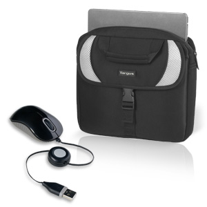 Targus Sport Neoprene Netbook Case & Travel Mouse Bundle