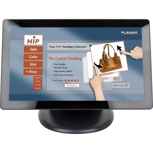 "Planar PT2285PW 21.5"" LCD Touchscreen Monitor - 5 ms - Projected Capacitive - Multi-touch Screen - 1920 x 1080 - Adjustable Display Angle - 1,000:1 - 300 Nit - Speakers - DVI - USB - VGA - RoHS - 3 Year"